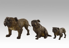 Set of 3 Bulldogs