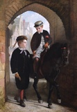 Portrait of Two Boys and a Pony