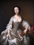 Portrait of Lady Hyndford in a White Satin Dress