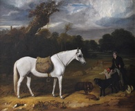 Gamekeeper with Pony, Dogs & Game