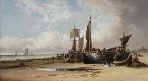 Fishing Boats at Dunkirk Beach
